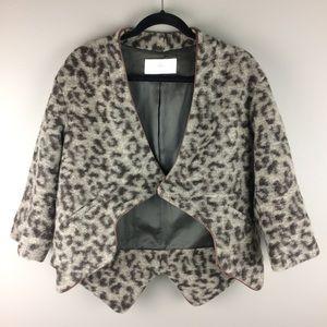 Thakoon Addition leopard print wool blend jacket